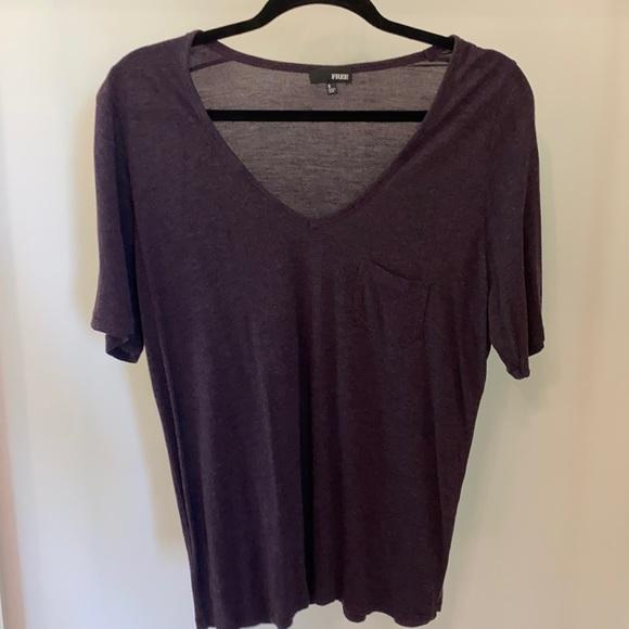 Aritzia Wilfred Free purple t-shirt